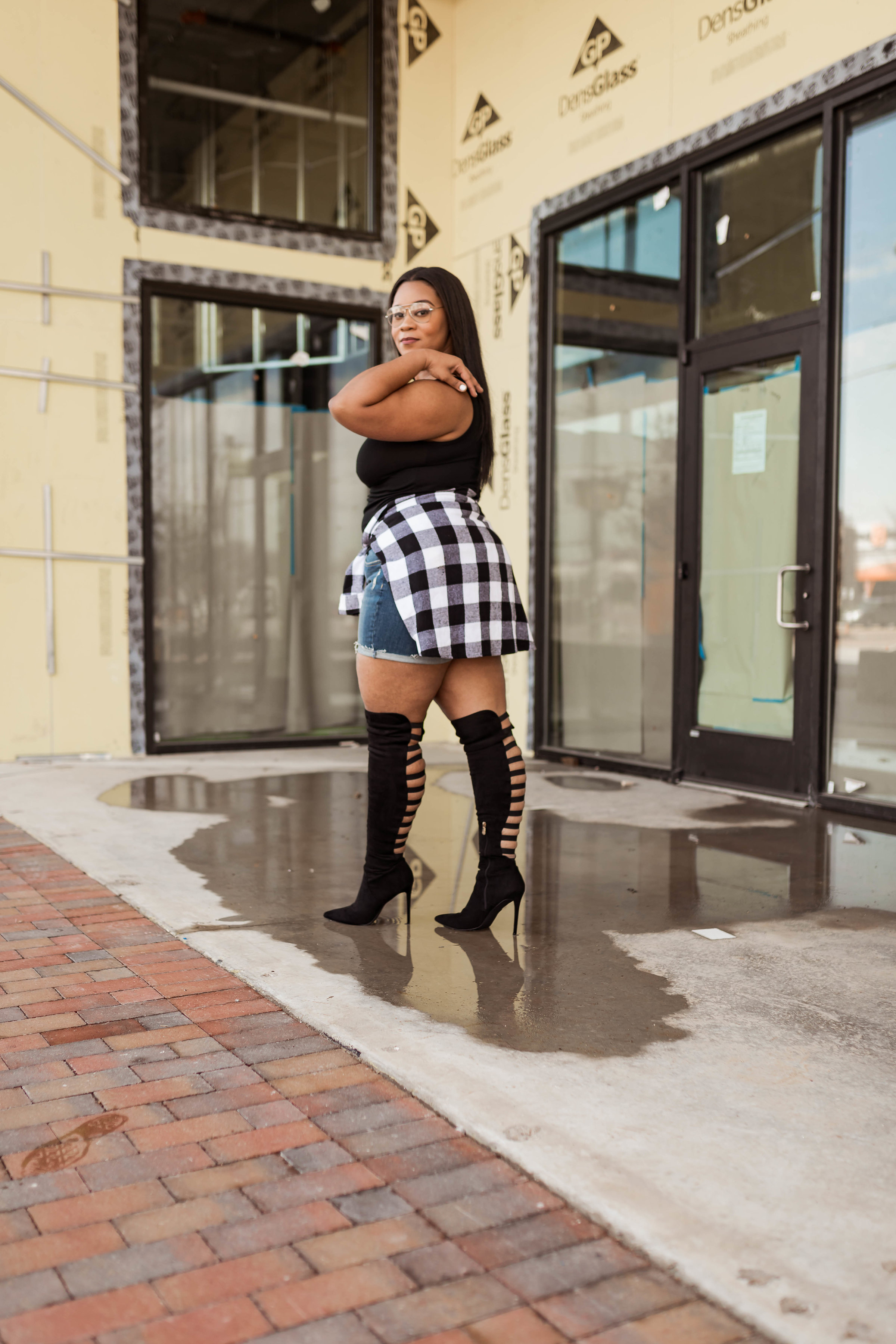 Over-the-knee boots outfits - Natalie Greagor
