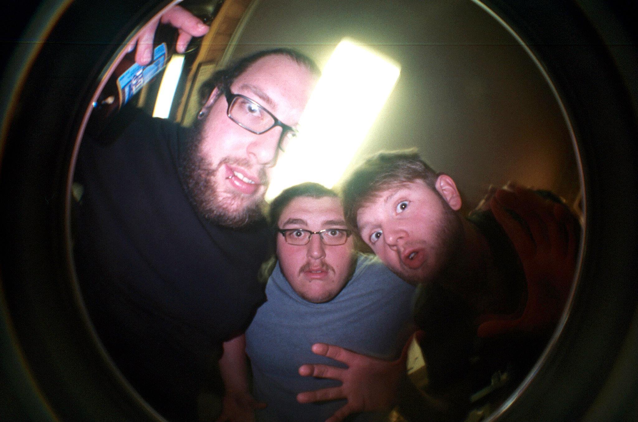 Big Dan, Luke, Chris (pizza time) 2011