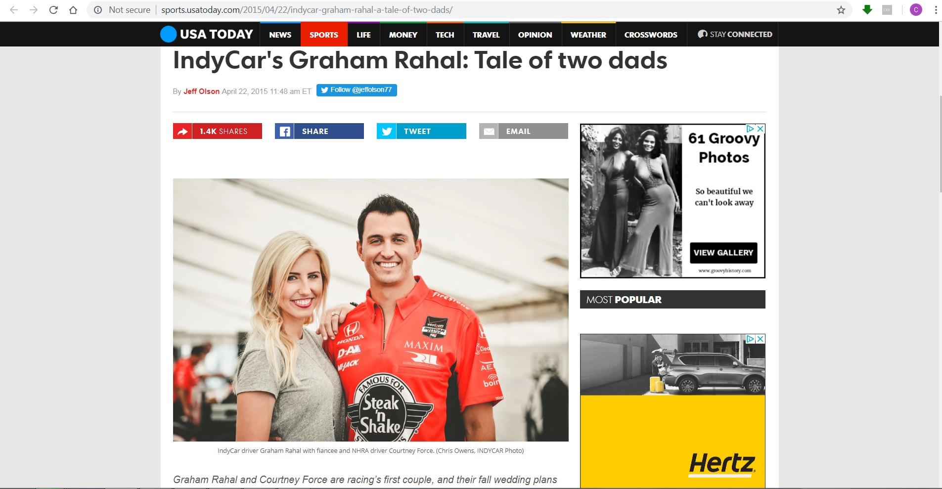 USA Today - Graham Rahal, Courtney Force