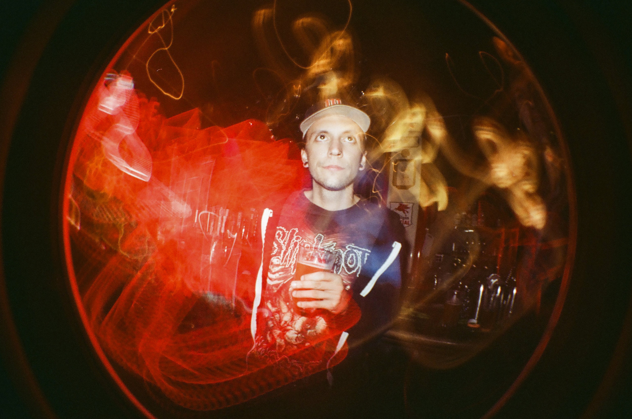Death Metal Joe - Shot with Lomography Fisheye One - 35mm Film - Portland, OR