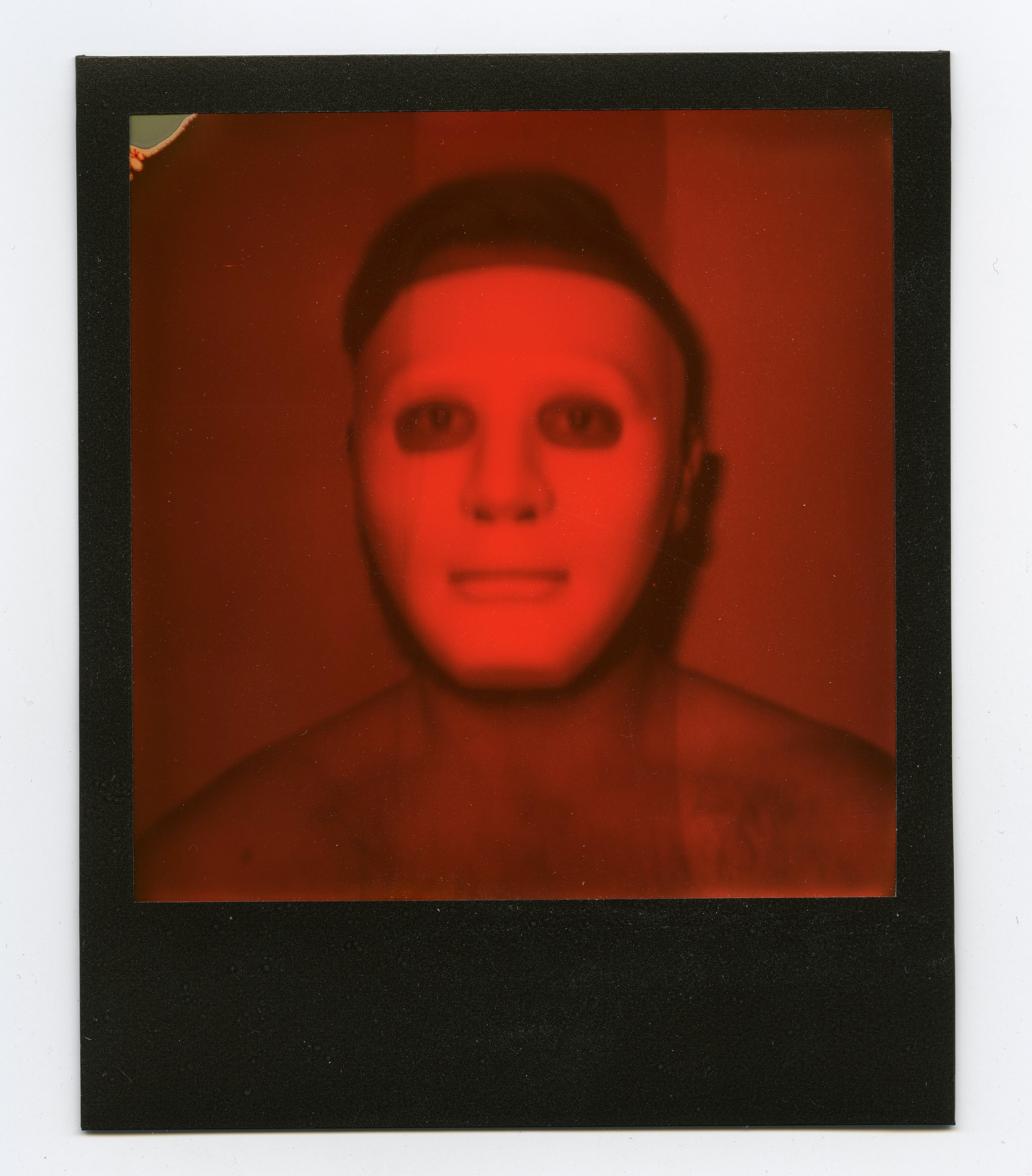 Seeing Red - Shot with Impossible Black And Orange Duochrome Instant Film - Speedway, IN