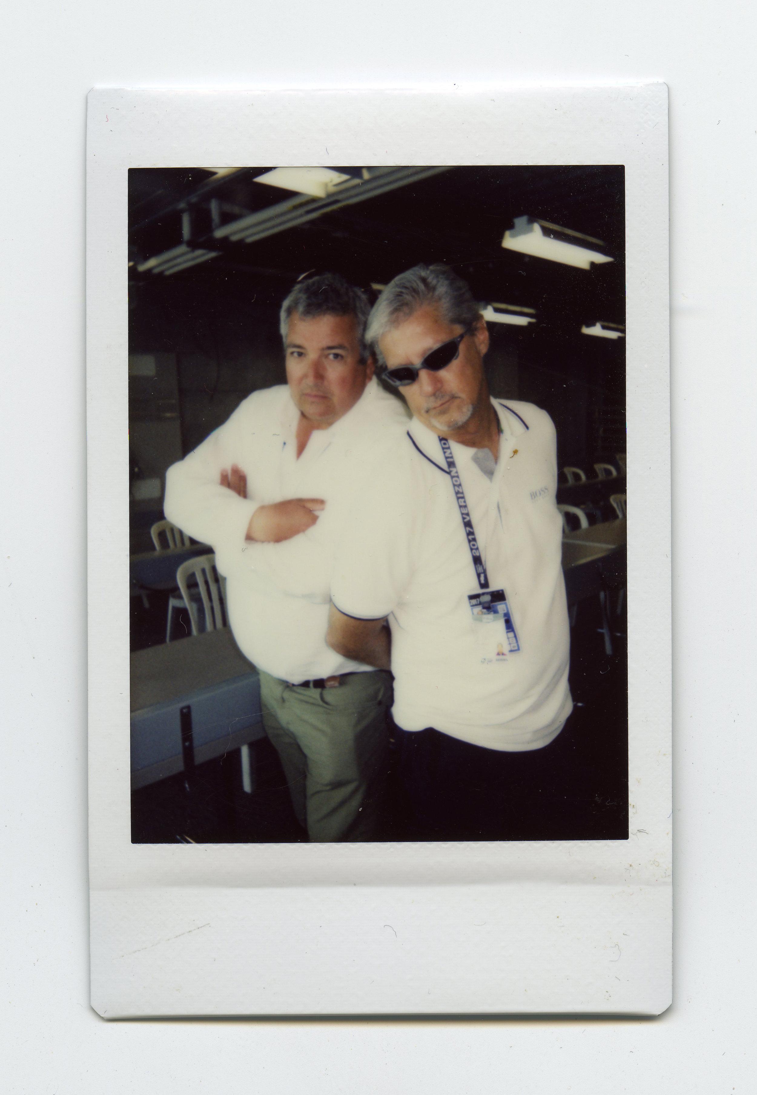 Mike Levitt & Steve Swope - Shot on Fujifilm Neo90 Camera with Fuji Instant Film - Indianapolis Motor Speedway