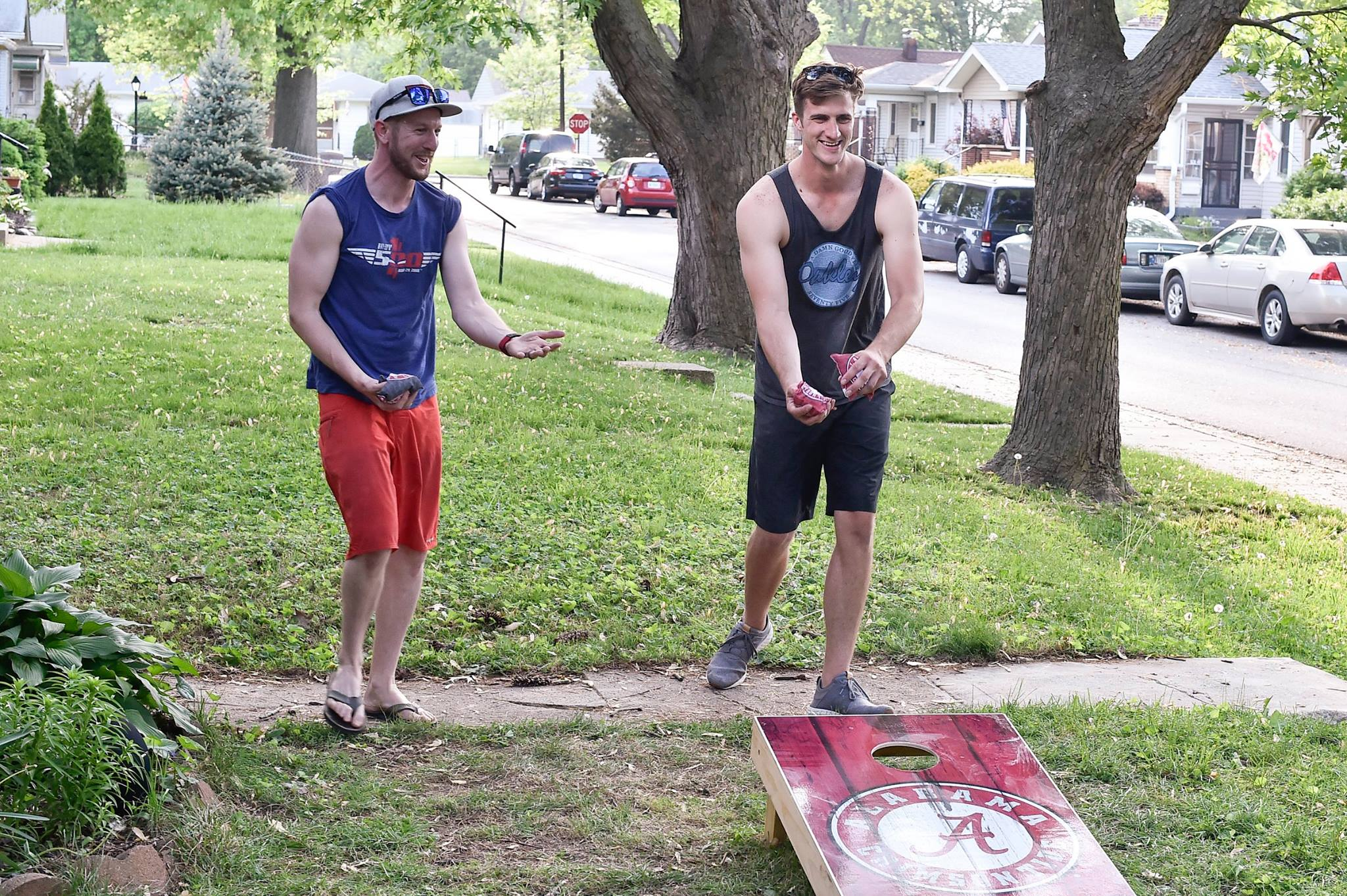 Kimball & Cross, Corn hole Competitors - Shot with Nikon D4S, Speedway, IN