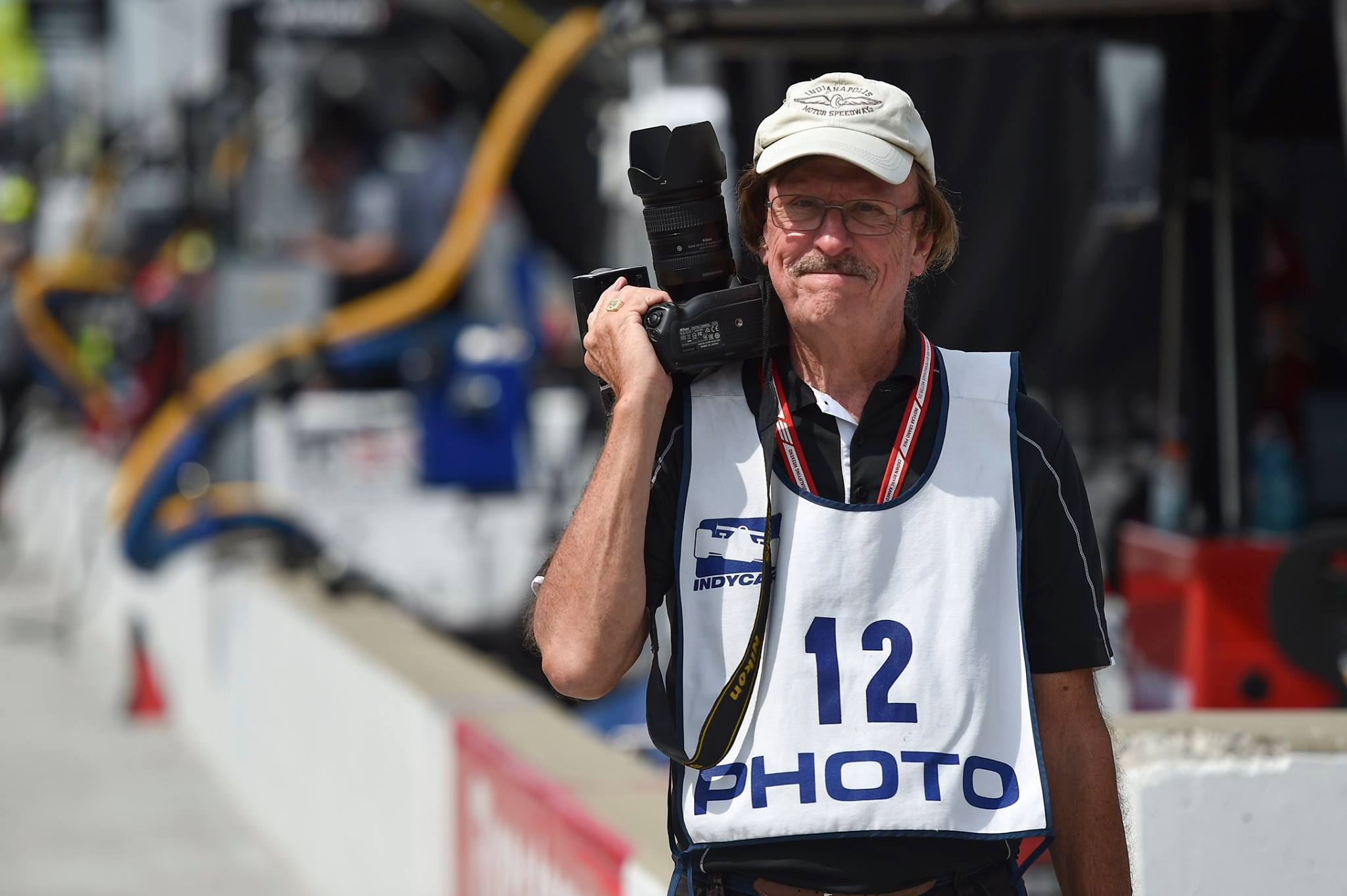 A legend in American Motorsport Photography - Jim Haines - Shot with Nikon D4S - Indianapolis Motor Speedway