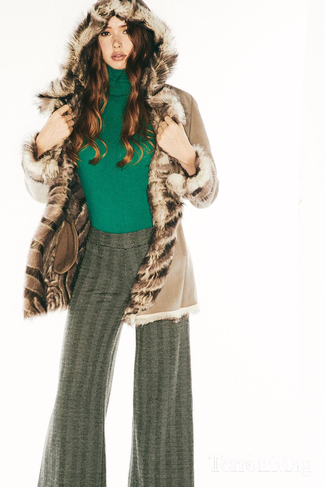 Furry Jacket - Vintage Pants - Casta Blanca Shoes - Nine West Turtle Neck - Zara Bag - Custome Made  Hat - Joe Fresh