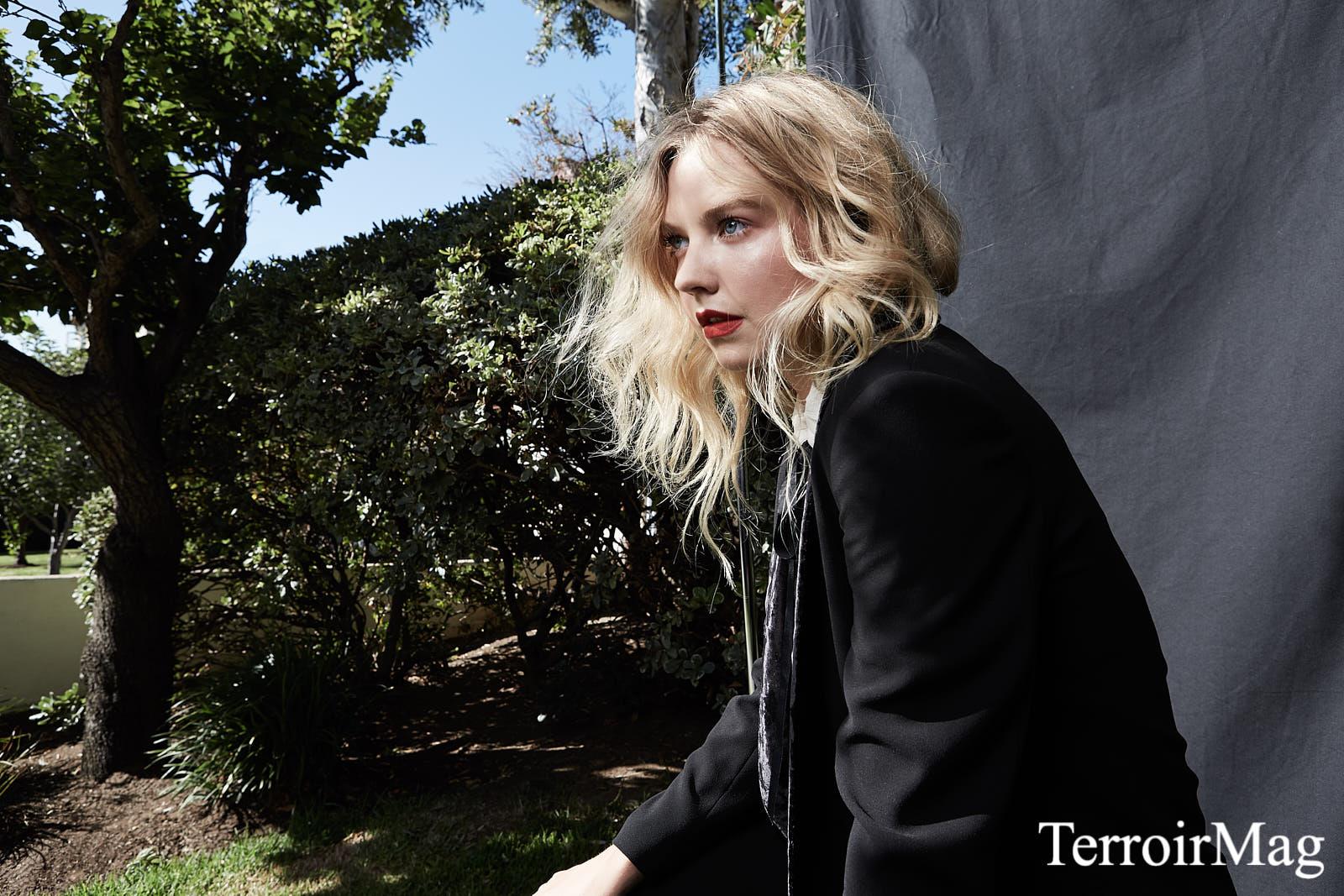 Suit: Pinko  Shirt: Zara Earrings: Caterina Jewelry  Heels: Topshop