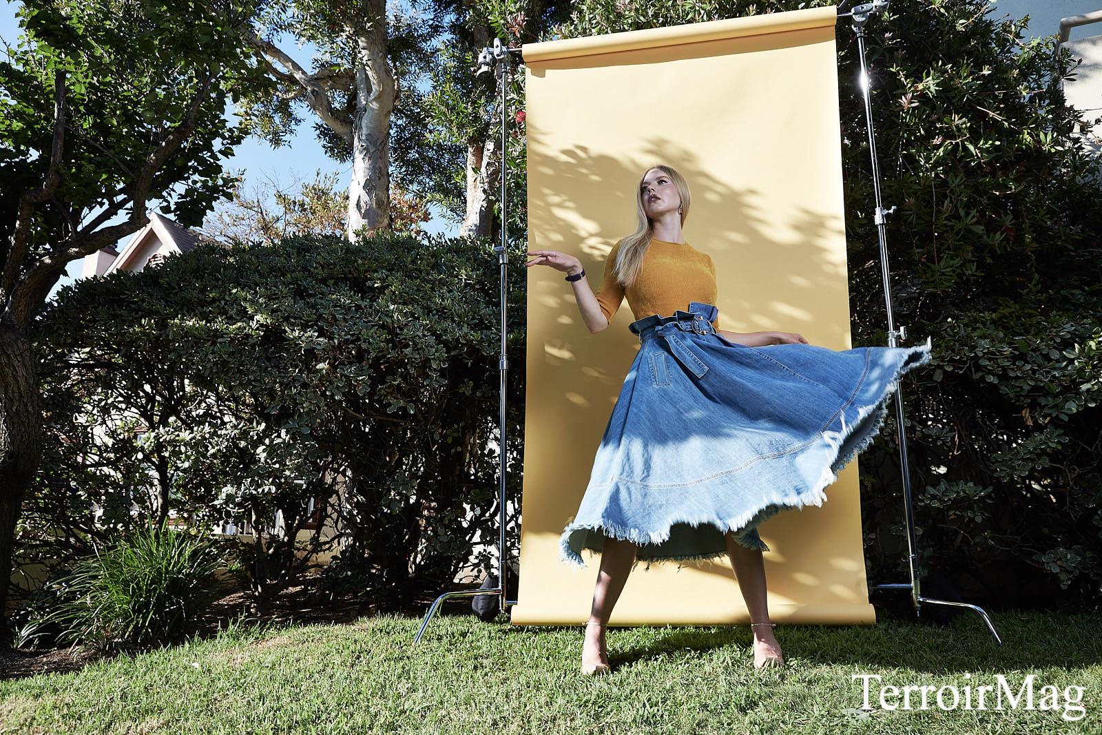 Full Look: Elisabetta Franchi  Earrings: Alison Lou  Watch: Versace  Heels: Aldo