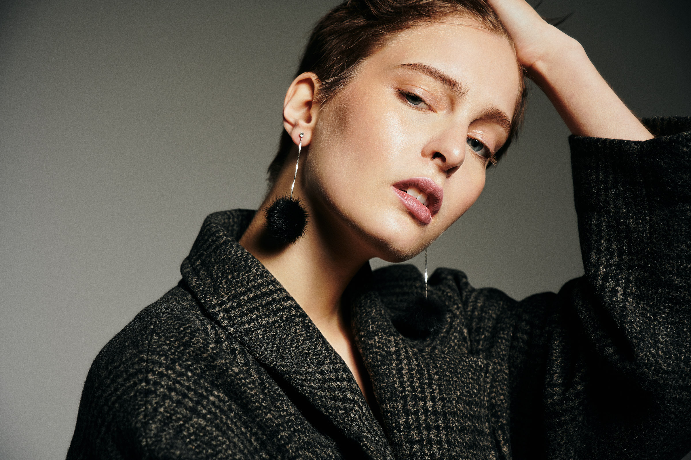 Jacket: ALLSAINTS Earrings: Vintage