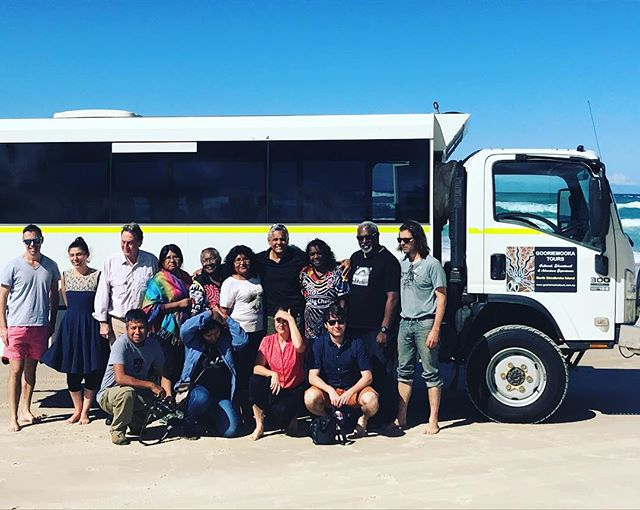 Chilean , North Queensland connection and Queensland university visitors. Learning about ecological connectedness to North Stradbroke Island. #gooriemookatours