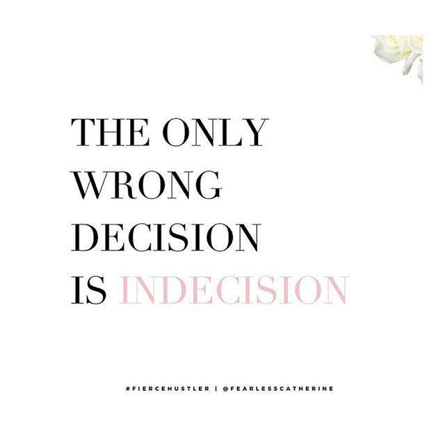 Indecision is a decision. A few years ago I was told it's not about whether or not a decision is right or wrong. It's about movement and agreement. If you have faith then ALL things work together for your good, even the decisions that don't pan out to be the greatest. But God can't do anything with indecision. That's like a person praying and asking God to guide their footsteps, but they aren't even moving their feet. He can't guide what refuses to take the first step. Have faith and leap. 💕 #mondays #weretheworst #days #nowwesipchampagnewhenwethirsty #randomhashtags #anyways #mondaymotivation #doyoubooboo #makedecisions #bossup #liveyolife #stepout #itscoldasballs #anotherrandomhashtag #authorsofinstagram #writingislife #blp #womensupportwomen #blacklove #loveisbeautiful