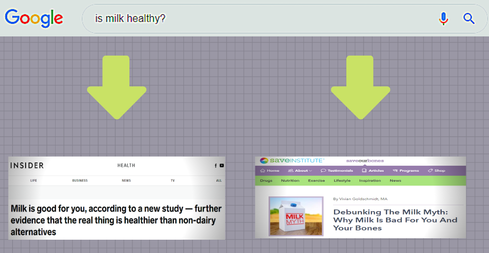 Left:  thisisinsider.com  Right:  saveourbones.com . Both results found on the first page of Google search.