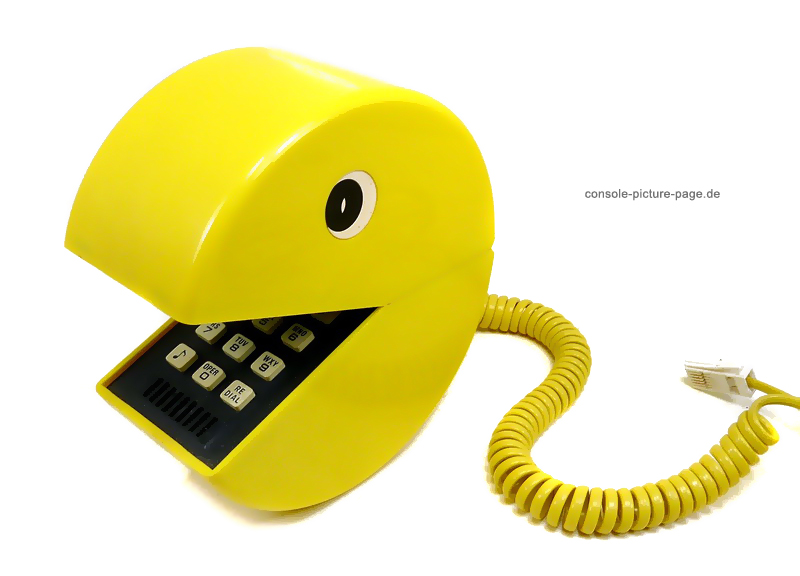 Pac-Man Phone - Eats your face while you chat!
