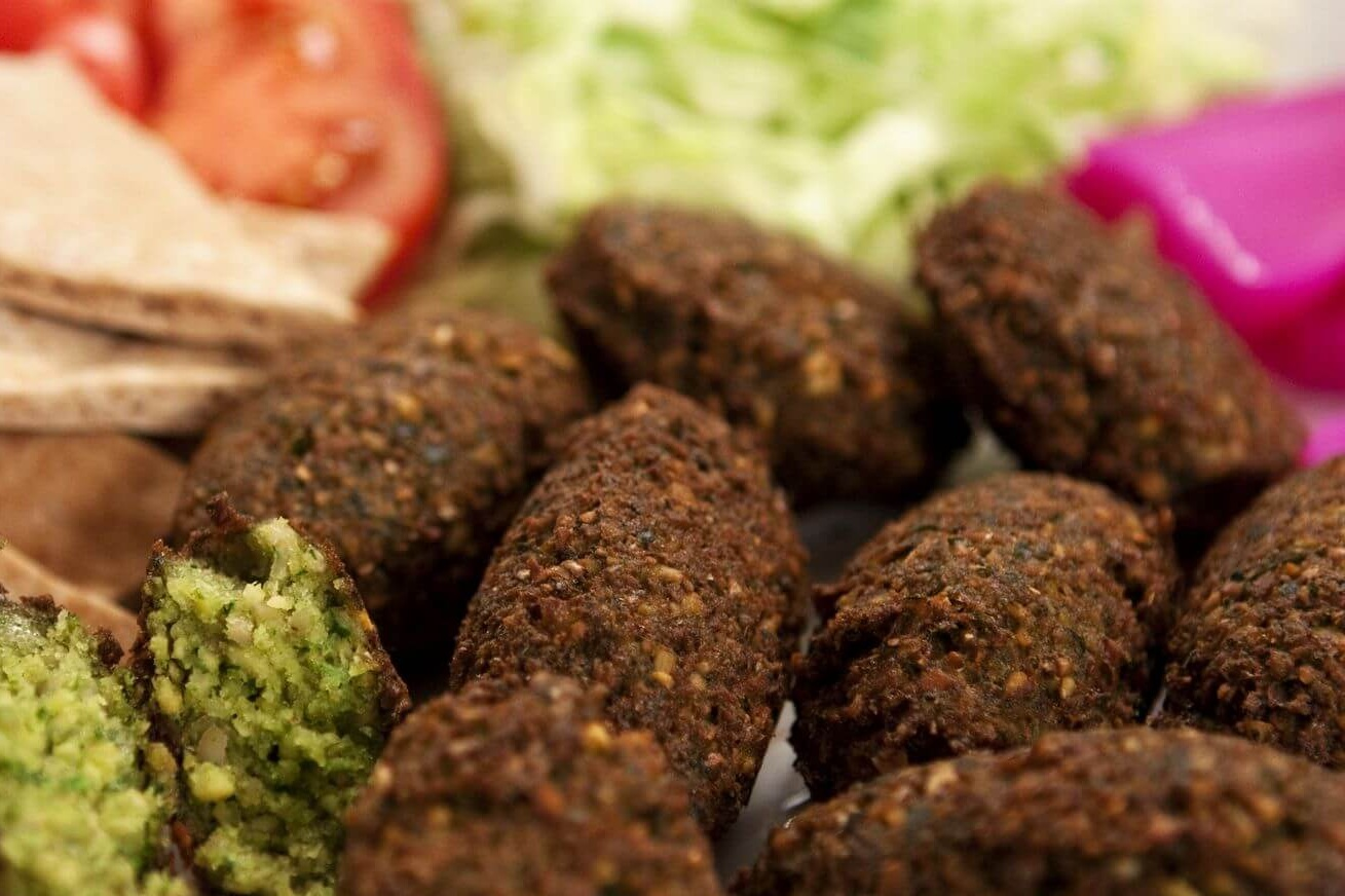 Falafel with fresh mealworm