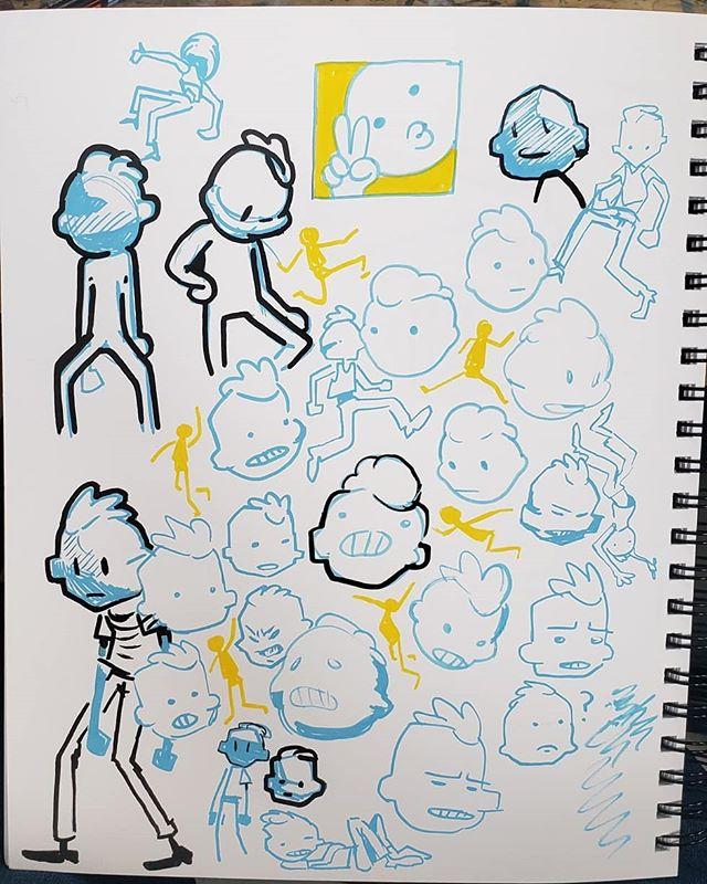Blue boys . . #lifesucksincandyland #comics #illustration #art #sketchbook #drawing #draw #posca #markers #sketching #ideas