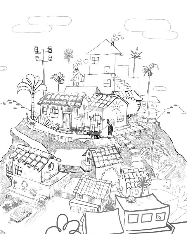 Beautiful View, where do you want to live in 5 years? A drawing that I plan on coloring and stuff :^). . . All drawn digitally, like the pathetic feeble worm I am, in clip studio paint. . . #losangeles #illustration #artistsoninstagram #illustrationart #art #artgallery #artistic #landscape #illustrationartists #arte #artist #artoftheday #urbansketch #drawings #artistsofinstagram #illustrationsketch #illustrations #drawing #artwork #illustrationdaily