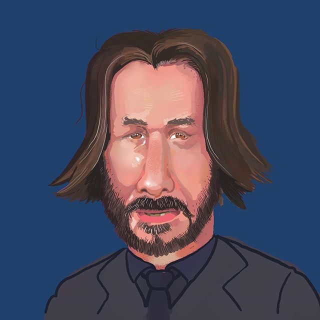 A portrait/caricature of the breath-taking actor, Keanu Reeves. I was going to tag him or send this to him but I learned just now that he stays clear of all social media! Good on ya, respect it. . . Is there someone you think I should draw next? . . #keanureeves #keanu #portrait #caricature #illustration #digitalillustration #digitalartist #digitalpainting #commission #art #artist #artwork #artistsoninstagram #digitalart #cartoony #cartoonist #freelanceillustrator #illustrationdigital