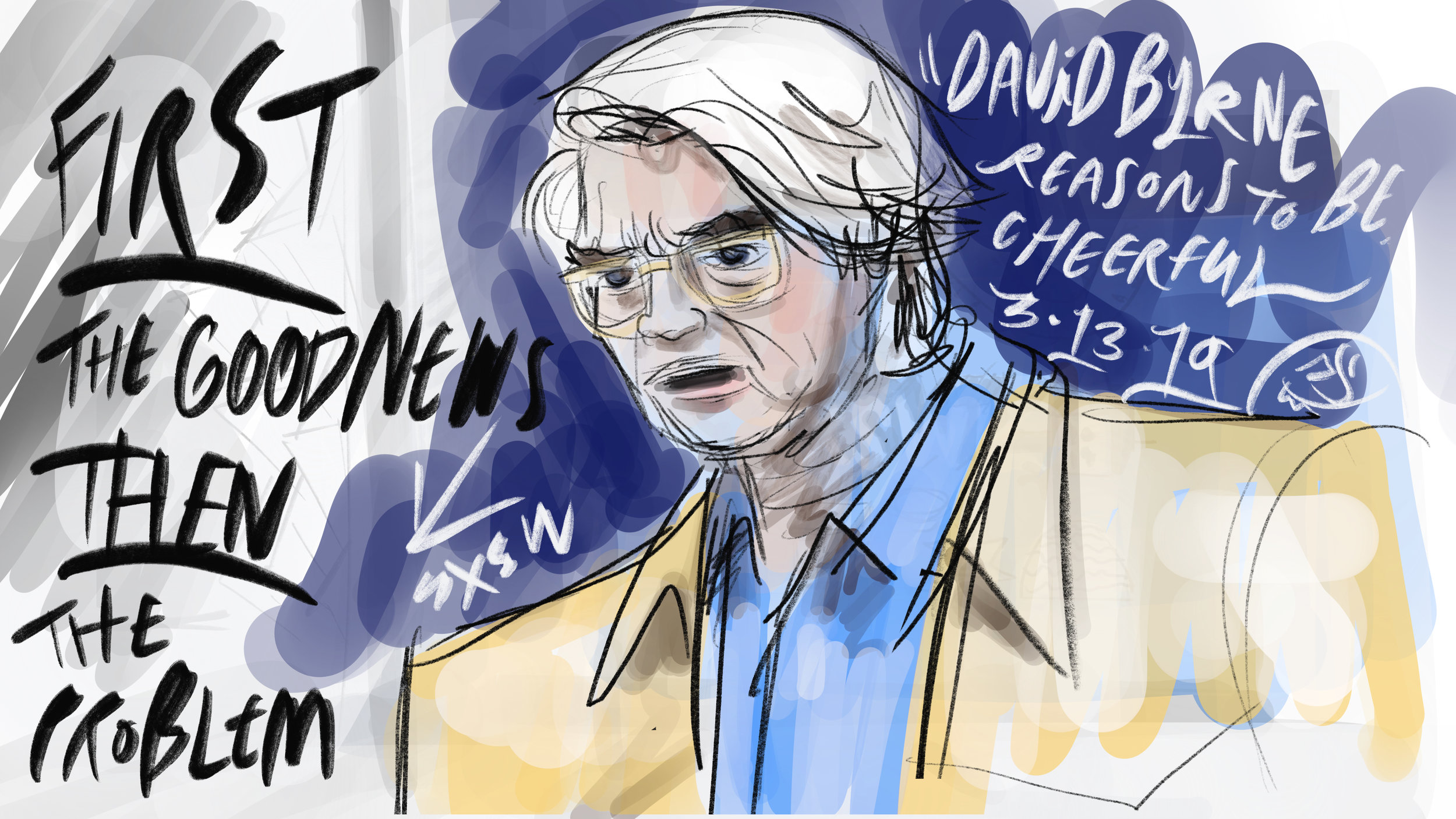 Featured Session: Reasons To Be Cheerful.  David Byrne's notes on the environment and social issues that have become a multimedia project helping him deal with everyday life.