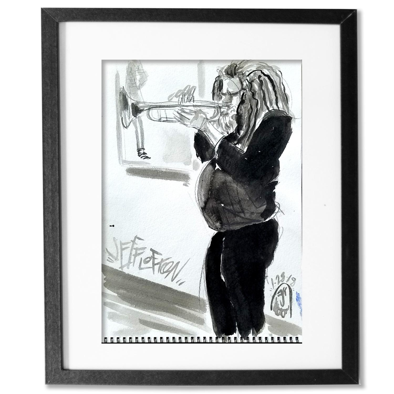 Jeff Lofton on the Trumpet at the Blanton. Buy>