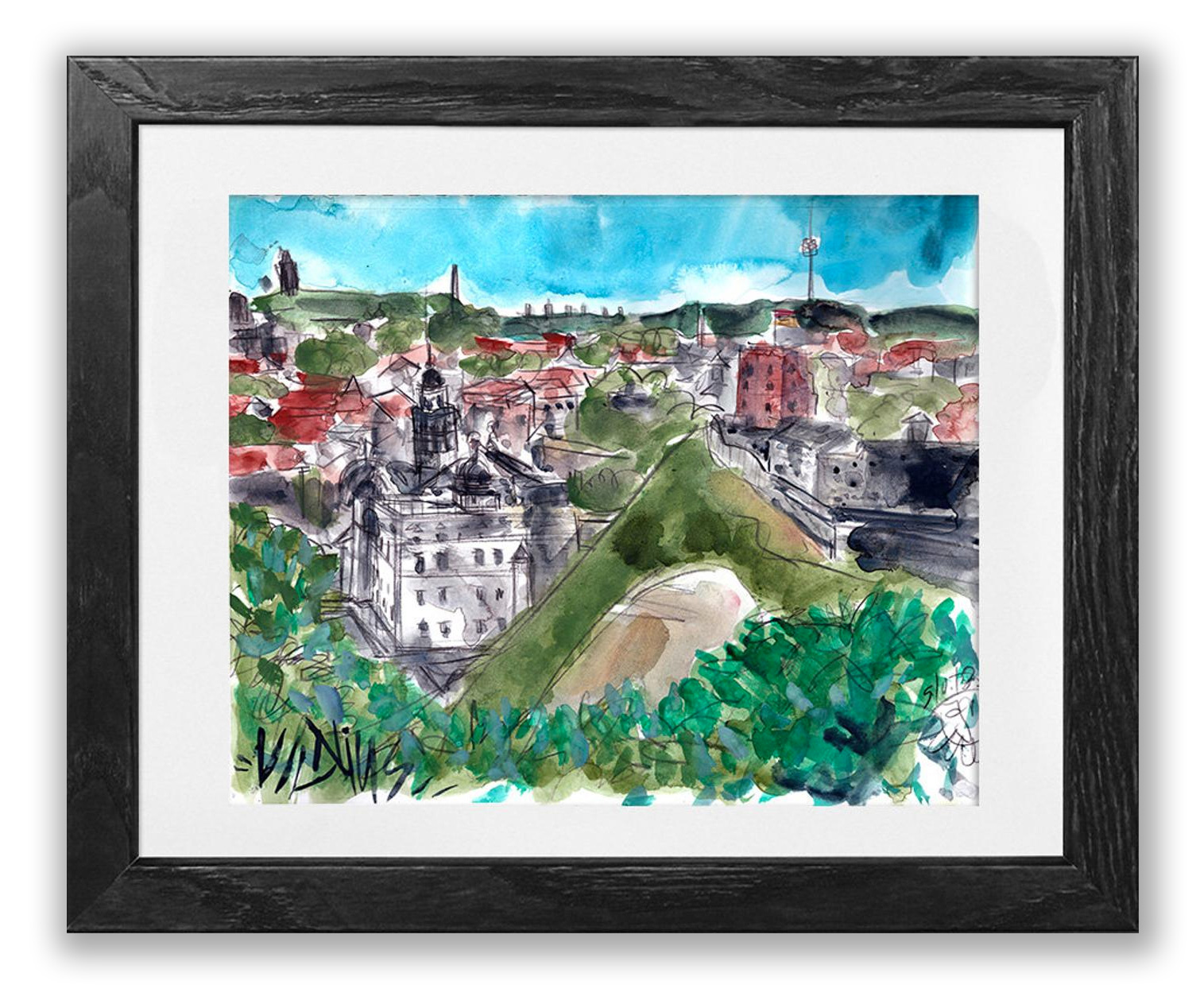 Vilnius from the Hill of Three Crosses . Buy>
