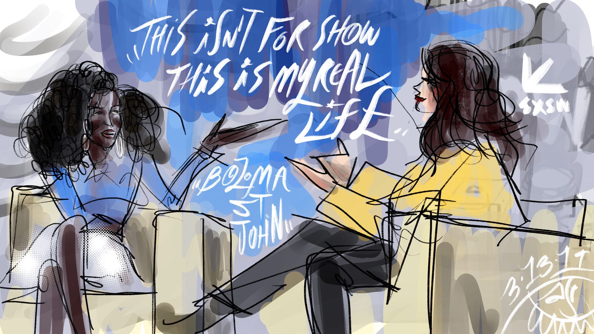 A really great conversation between  @badassboz  and  @ashleygraham  3.13.19  @sxsw . It struck a real chord with a creative working in the world of commercial media, the way perception can overwrite results and the struggle of managing that perception while being the true self that brought you to where you are.
