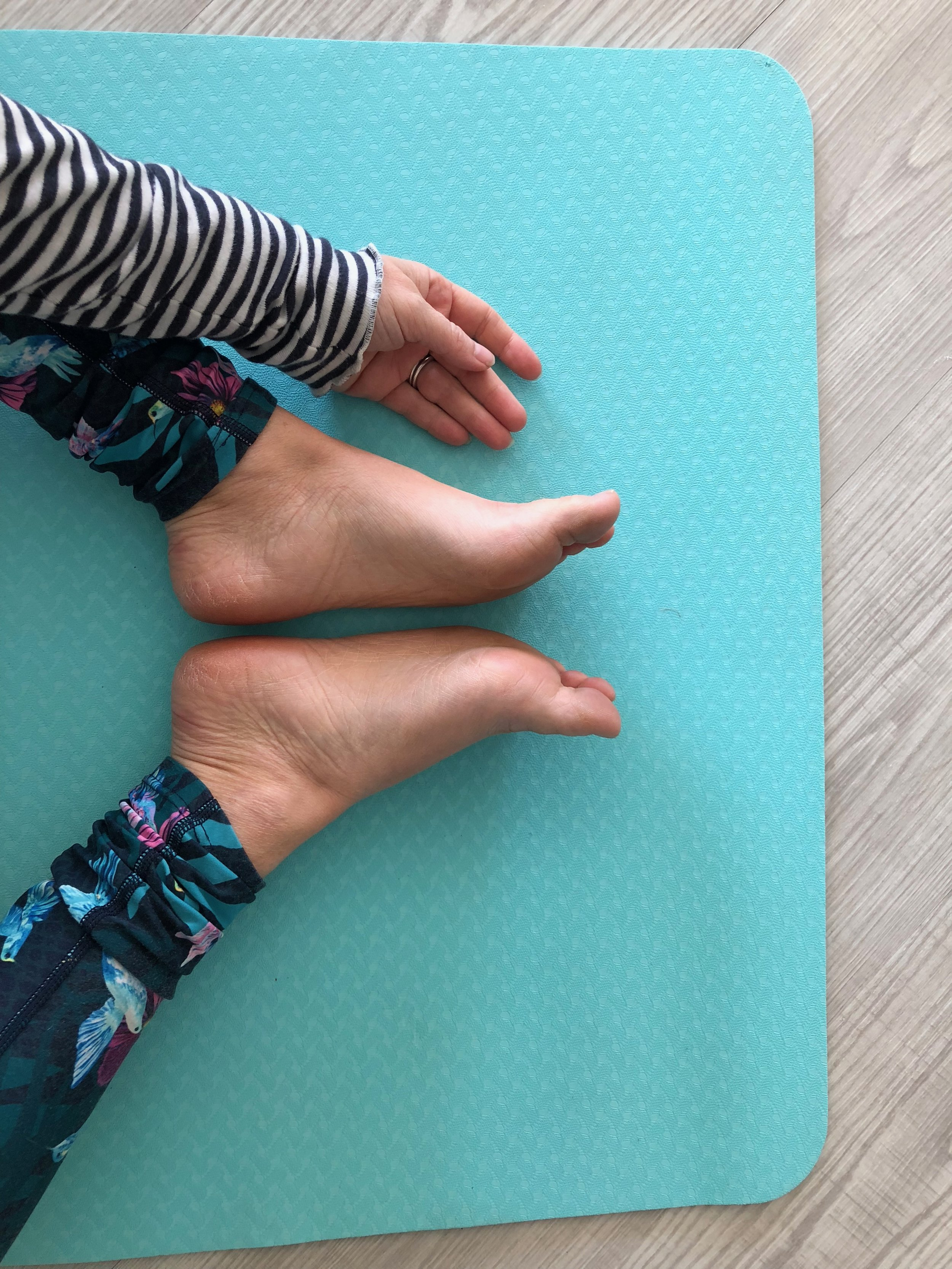 In Butterfly, feet are towards each other, but we are wishing to be muscularly soft in yin, so don't use the muscles of the legs to keep the feet together, put your body in this butterfly/diamond shape then relax, allow even the soles of the feet to fall open and allow the fascia of the body to access the stretch.