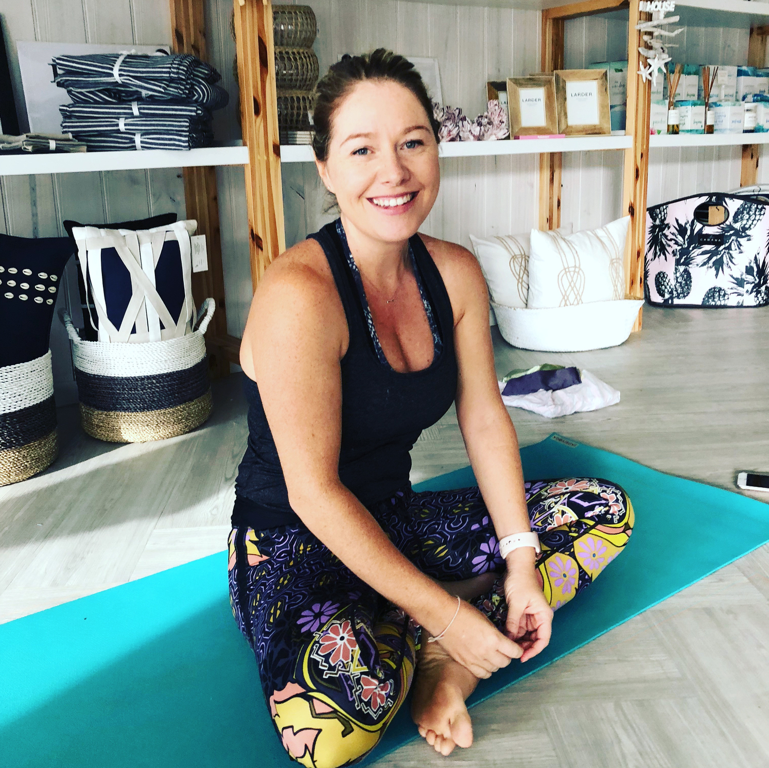 Amy Frasca Weidlich - Founder of Lotus Bay Yoga at Driftwood Living and The Wellness Office.