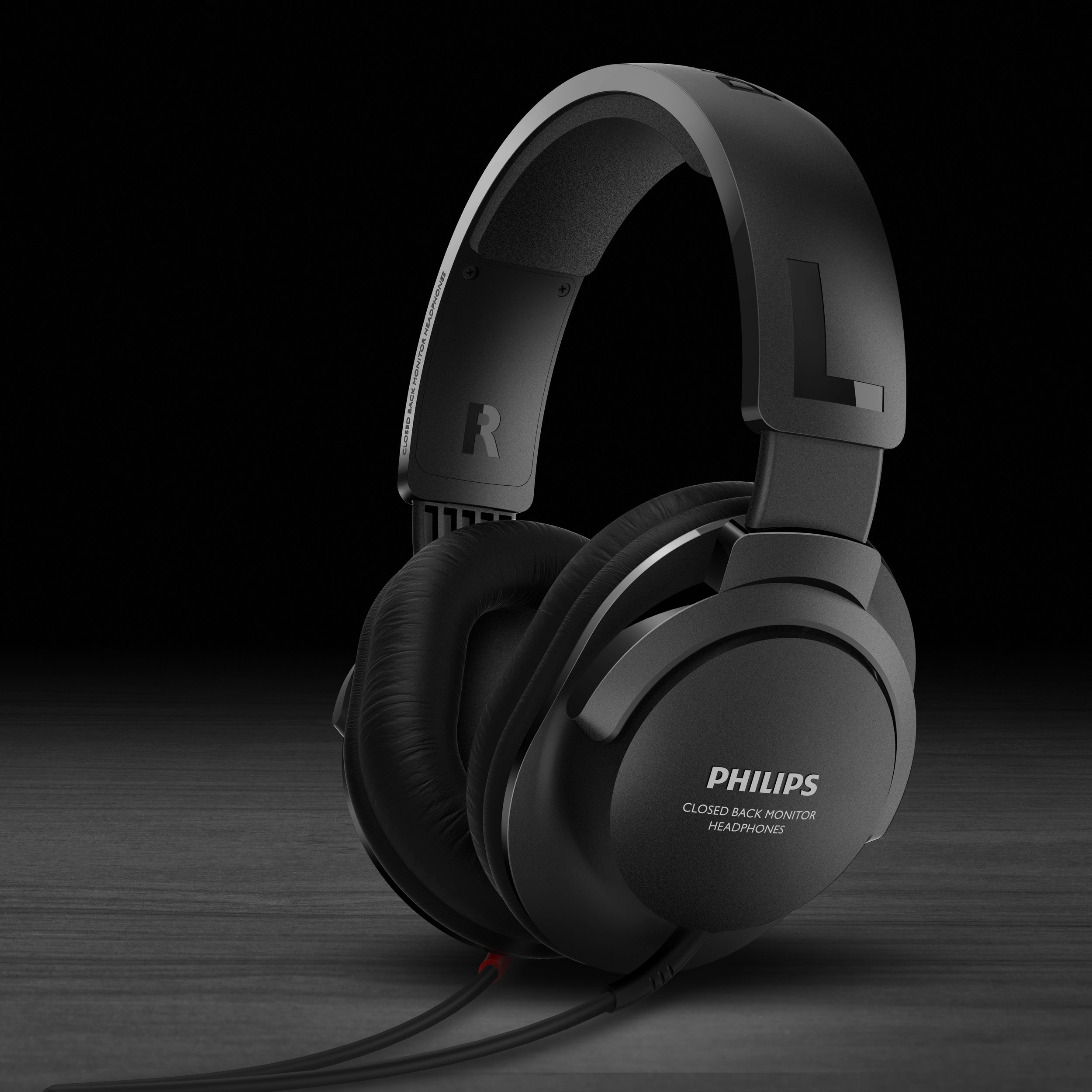 SHP2600 is an outdoor monitor type headphones, the contemporary design set a benchmark for the modern headphones design style.