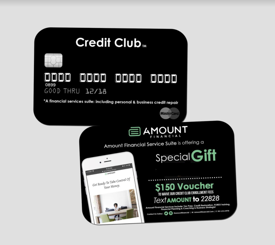 Join the Amount Financial Credit Club Today!