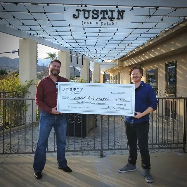 #TBT to supporting our community by donating a portion of the proceeds from one of our guest chef dinners of 2018 to #DesertAidsProject. ❤ We're always happy to give when we can... more to come! Thank you @desertaids for all that you do 🙏