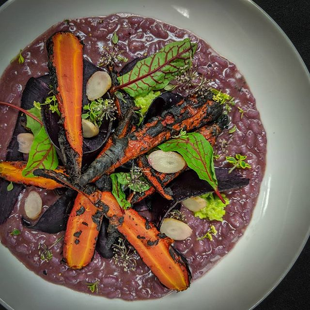 Spring is here! Add a little color to your life and come try our Purple Carrot Risotto. 🌈🥕