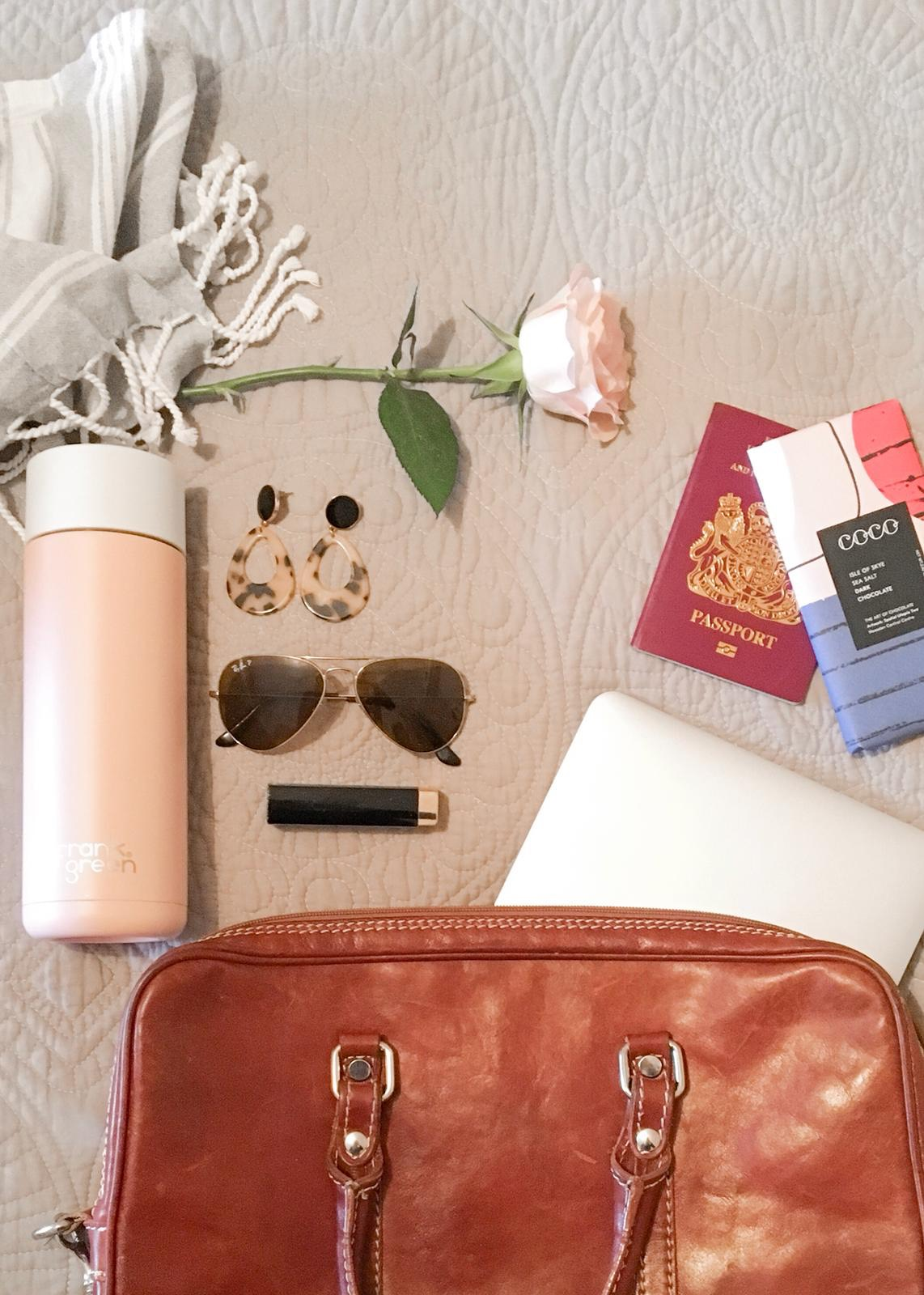 Thoughtful Traveller £36.50 - The Thoughtful Traveller, is the perfect duo for those that love preserving and experiencing the world! With a reusable Frank Green Water Bottle keeping water cool for up to 10 hours and COCO Chocolatier Vegan Isle of Skye Dark Sea Salt chocolate to snack on, this really is the most versatile gift.