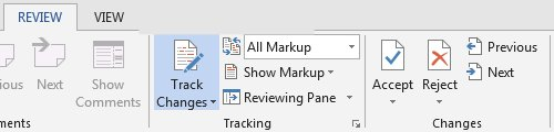 The Review tab in MS Word allows you and your editor to track changes, and view the document as it will appear if you accept all the changes. You can accept or reject the changes one at a time or all at once.