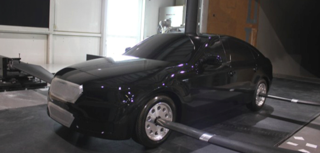 experimental wind tunnel setup for measuring drag lift car automotive computational fluid dynamics CFD