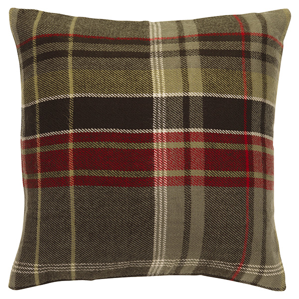 Home Green Check Cushion
