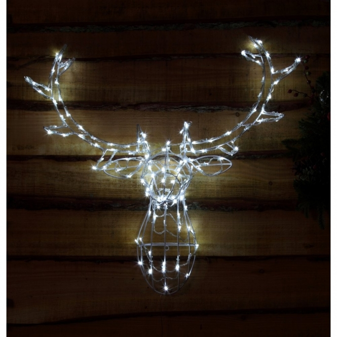 Reindeer Head LED Wall Decoration