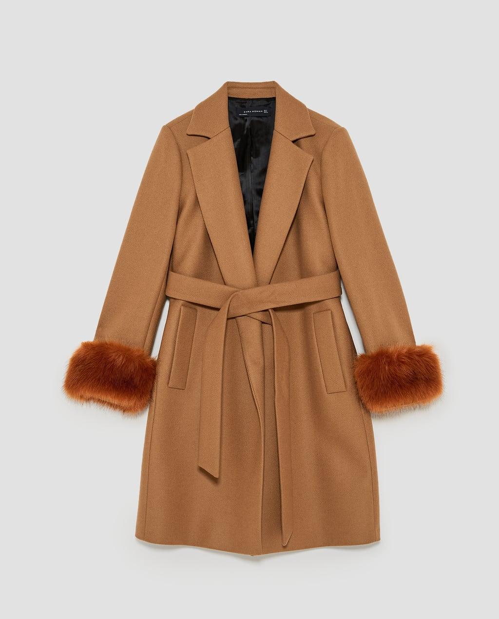 Coat with textured cuffs,£119, ZARA -