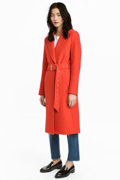 Wool blend coat,£59.99, H&M -