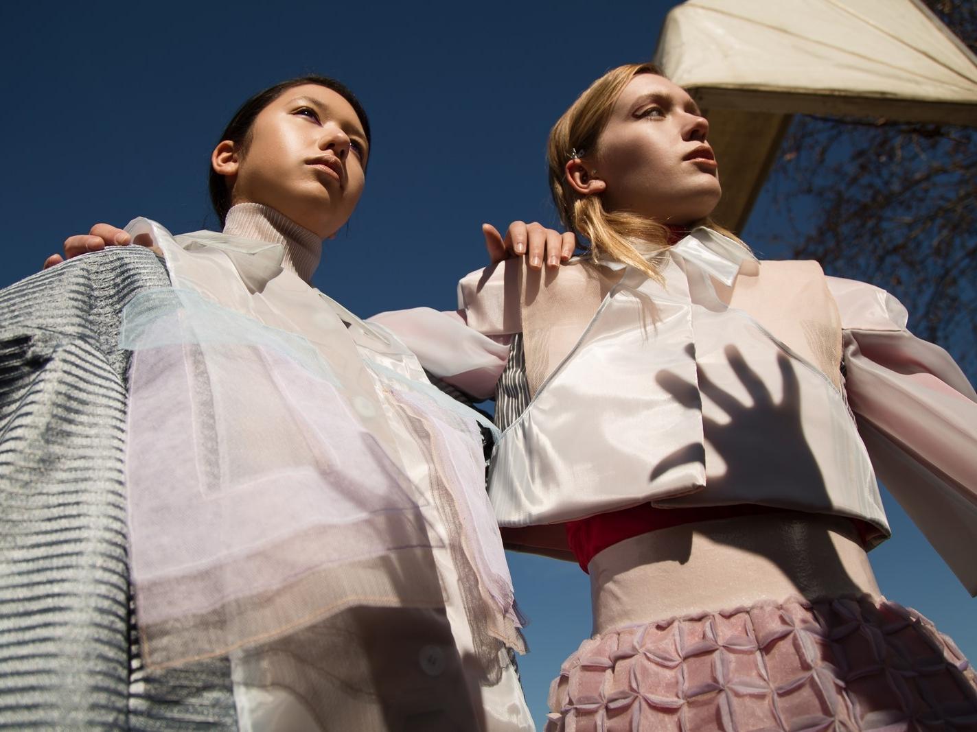 Models: Melissa Pope @themelissarae // Dylan Zoeller @dylan_zoeller Total look: Mauro Muzio Medaglia @m.m.muzio