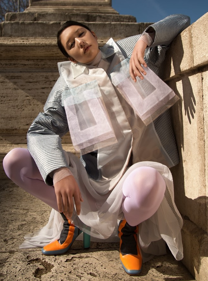 Models: Dylan Zoeller @dylan_zoeller Total look: Mauro Muzio Medaglia @m.m.muzio Shoes: Sara Pavani @sassipa