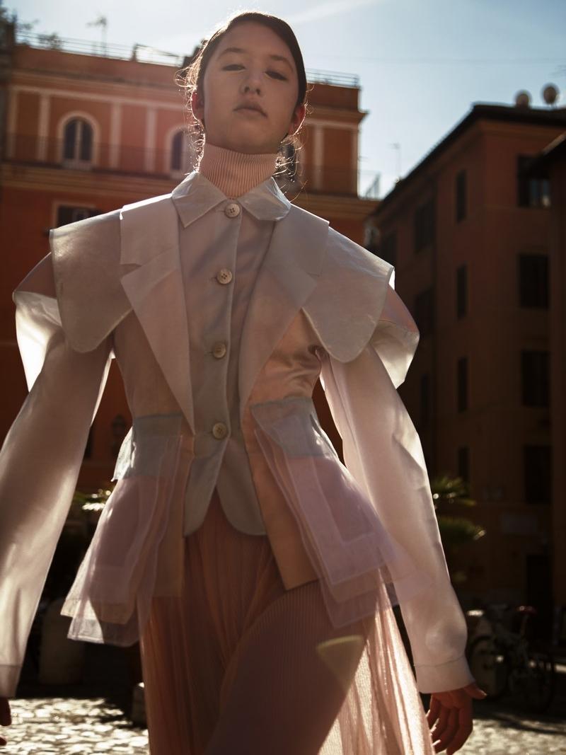 Models: Dylan Zoeller @dylan_zoeller Total look: Mauro Muzio Medaglia @m.m.muzio