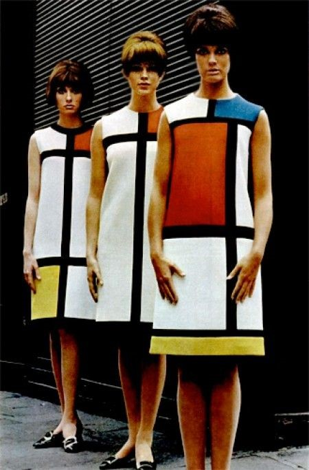 Knowing the flat planes of the 1960s canvases achieved by contemporary artists in the lineage of Mondrian, Saint Laurent made the historical case for the artistic sensibility of his time.