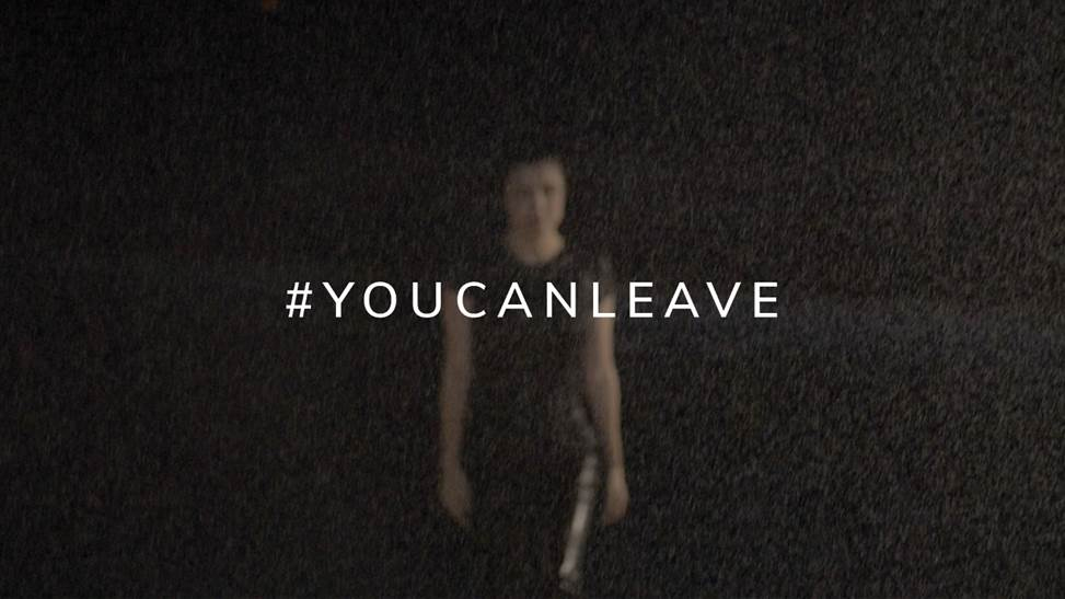You Can Leave is Josefinas' slogan for the campaign against domestic violence in association with Brooke Axtell. Credits: Josefinas.