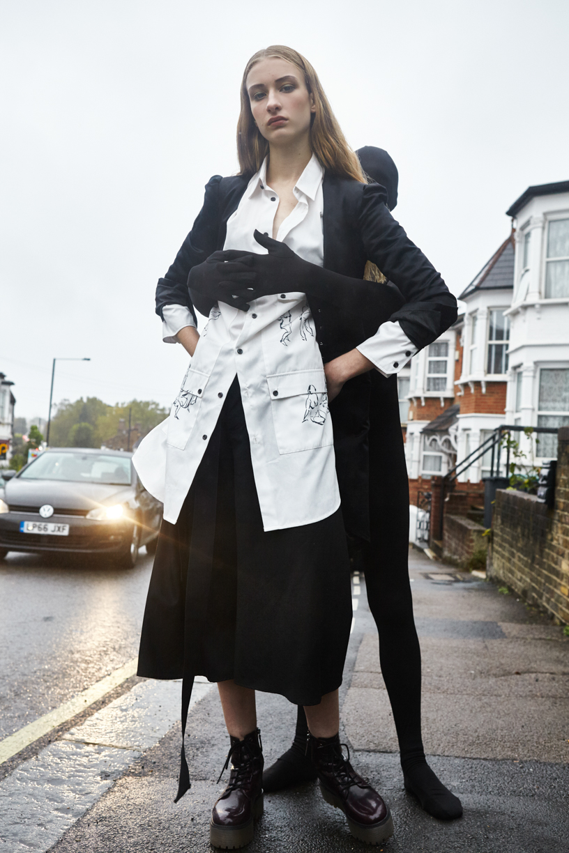 Jacket: By Malene Birger  Jumpsuit: Boyang Jiang