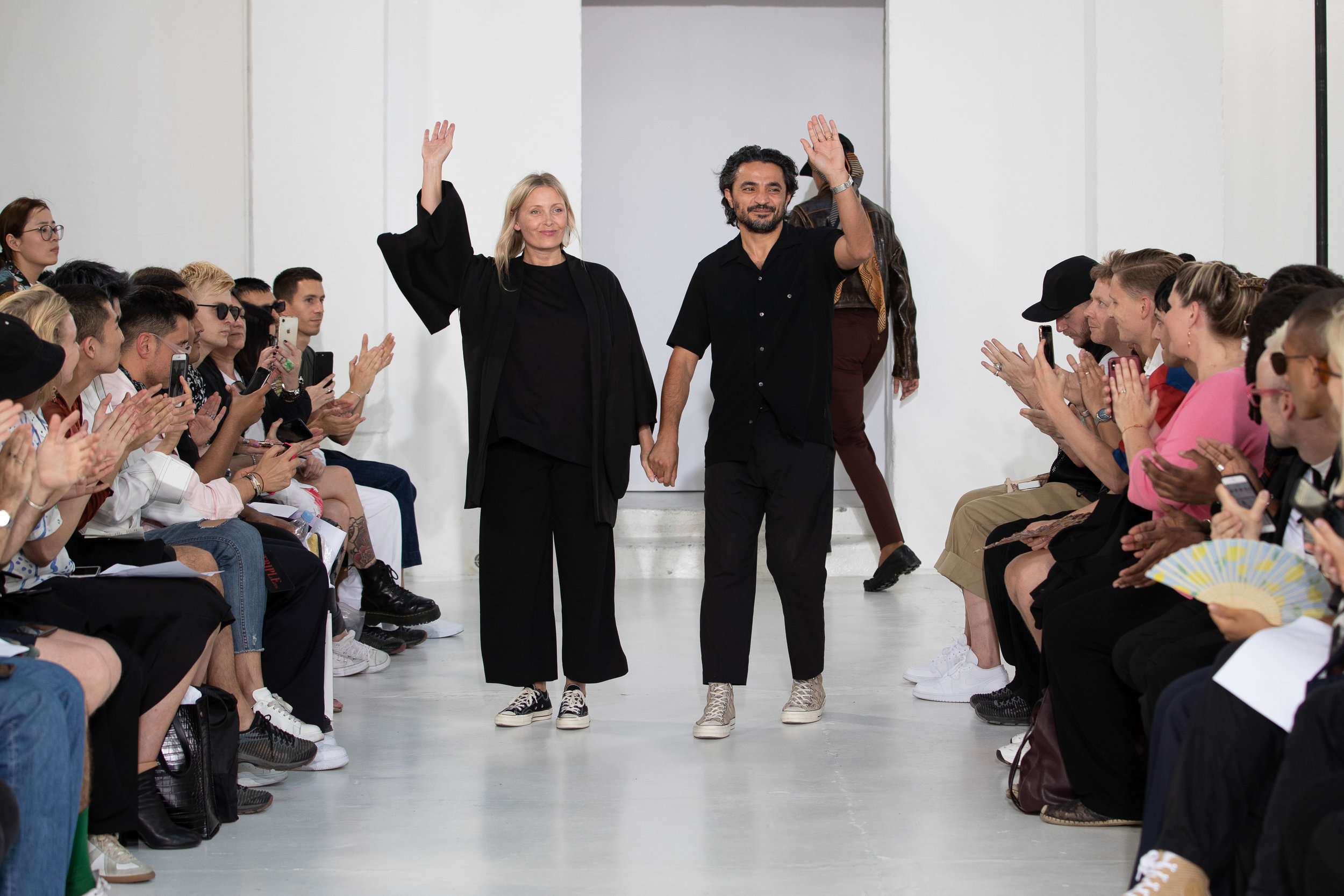 Ellia Art Gallery, Rue de Turenne, Paris, France. 18th June 2019. CMMN SWDN show their Spring Summer 2020 designs at their catwalk show during Paris Fashion Week Mens 2020. ©Chris Yates