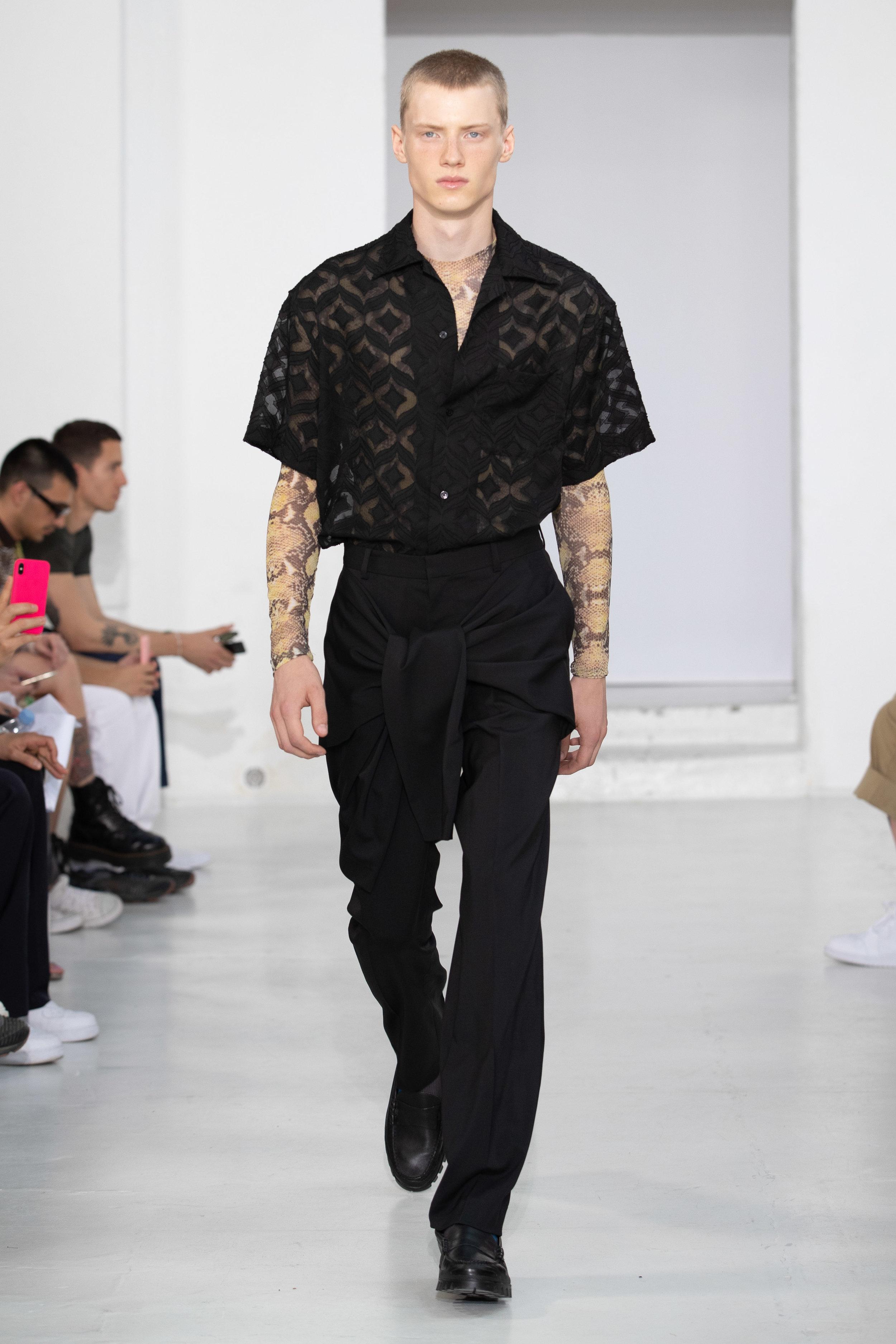 Ellia Art Gallery, Rue de Turenne, Paris, France. 18th June 2019. CMMN SWDN show their Spring Summer 2020 designs at their catwalk show during Paris Fashion Week Mens 2020. ©Chris Yates