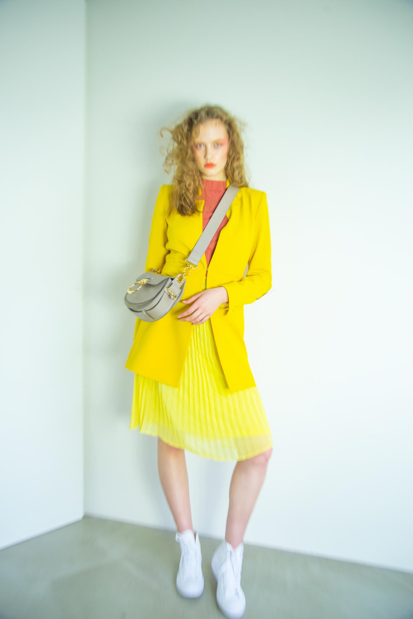 top, coat  Zara   skirt  Aritzia   bag  Chloe