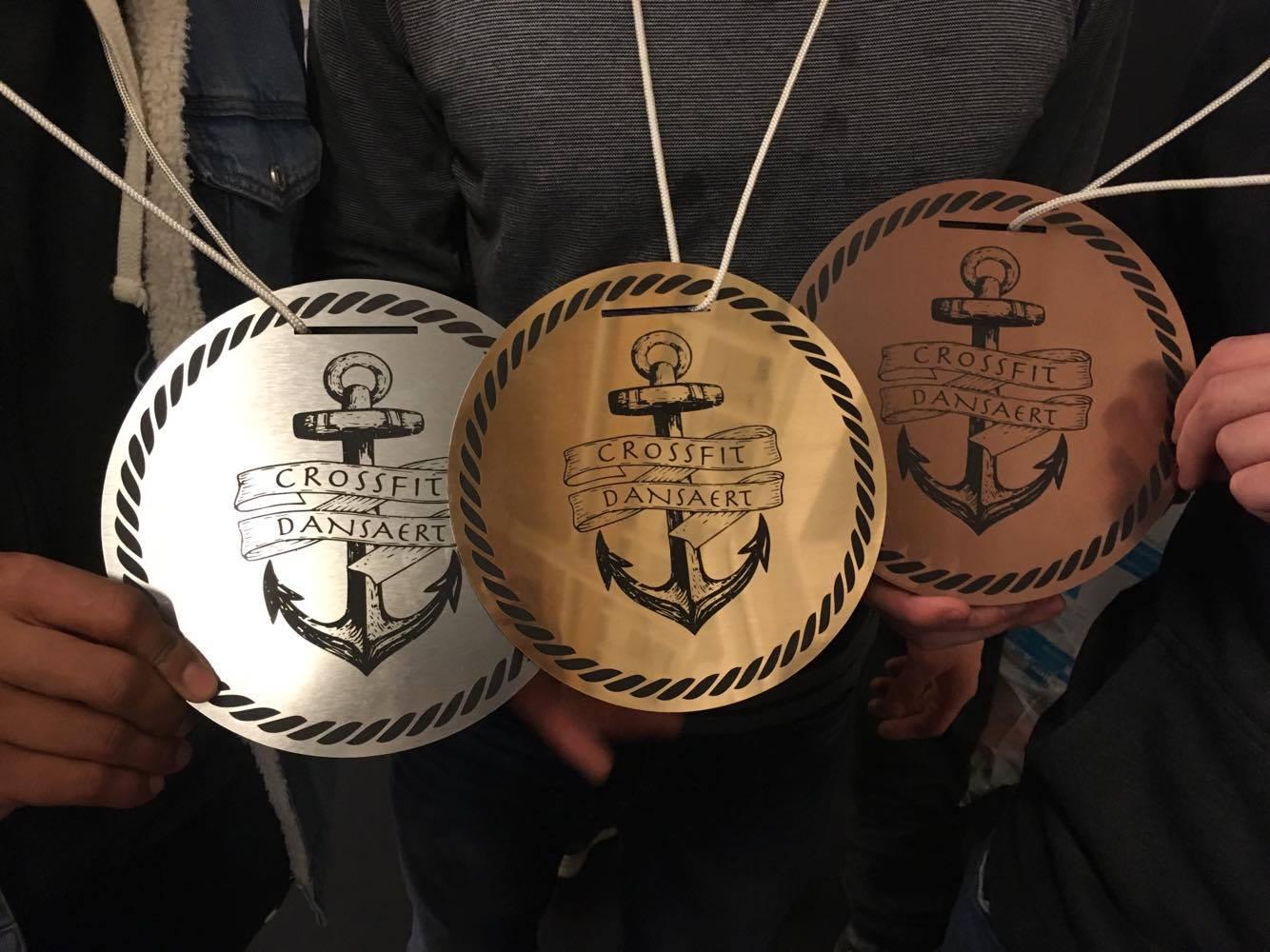 Médailles de récompense pour le Crossfit Dansaert - Bruxelles -  https://crossfitdansaert.be/