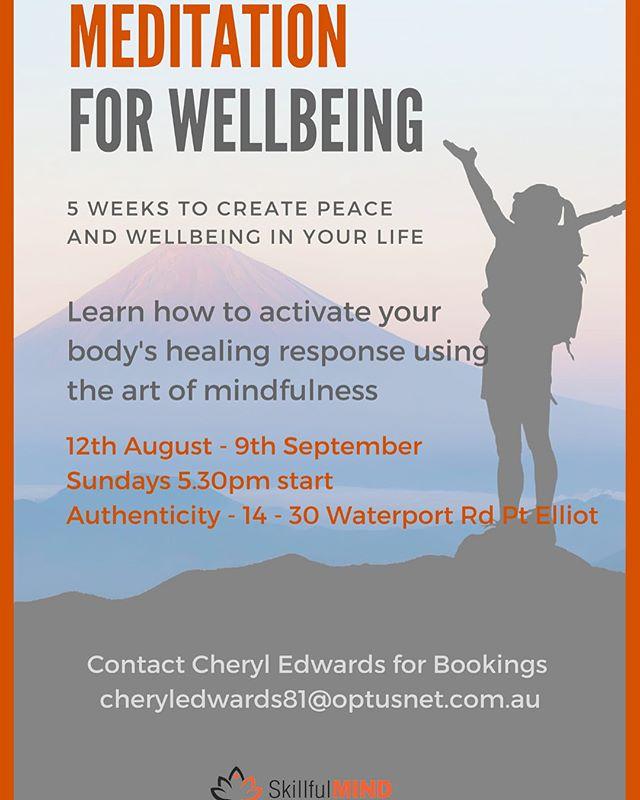 ~Meditation with Cheryl Edwards Pt Elliot SA��✨