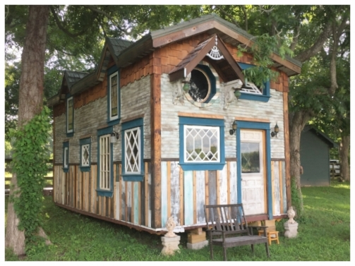 Maggie, our first cottage built of architectural salvage, lives in Houston, Texas.