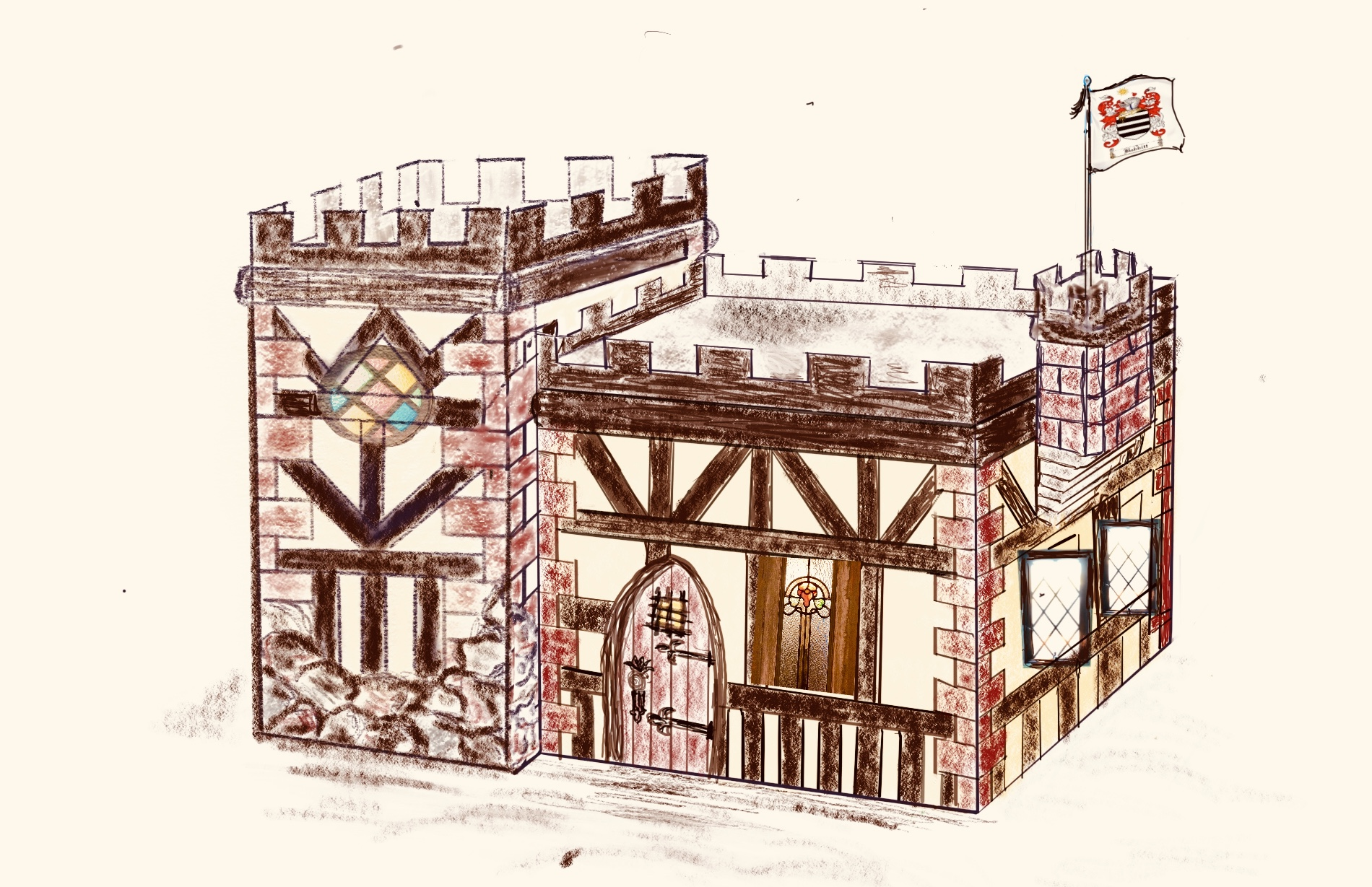 Havenwald Tiny Tudor Castle rendering